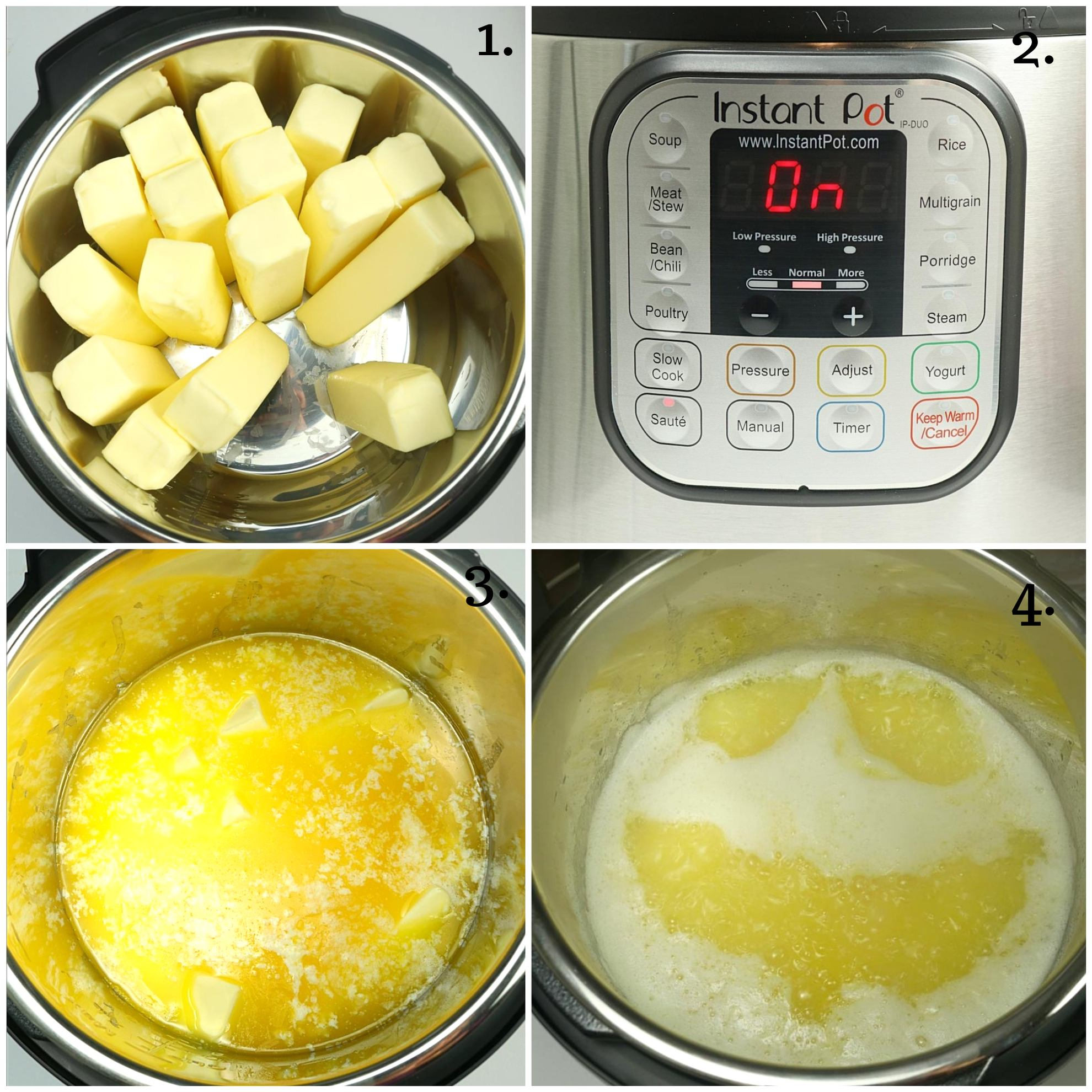 Ghee being cooked in Instant Pot