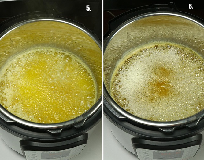 Ghee cooking in Pressure cooker