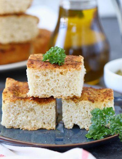 Pesto Focaccia Bread