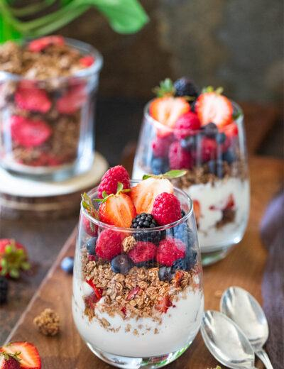 Berrylicious Granola Parfait in a cup