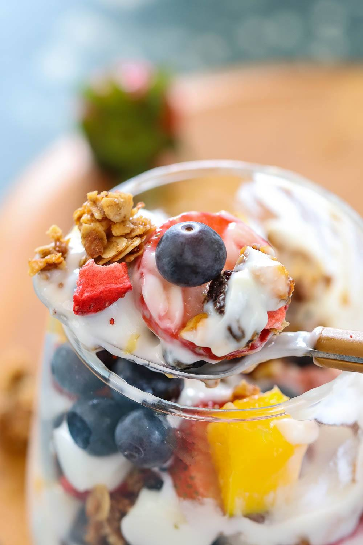 Homemade Berrylicious Granola Parfait | Ruchiskitchen