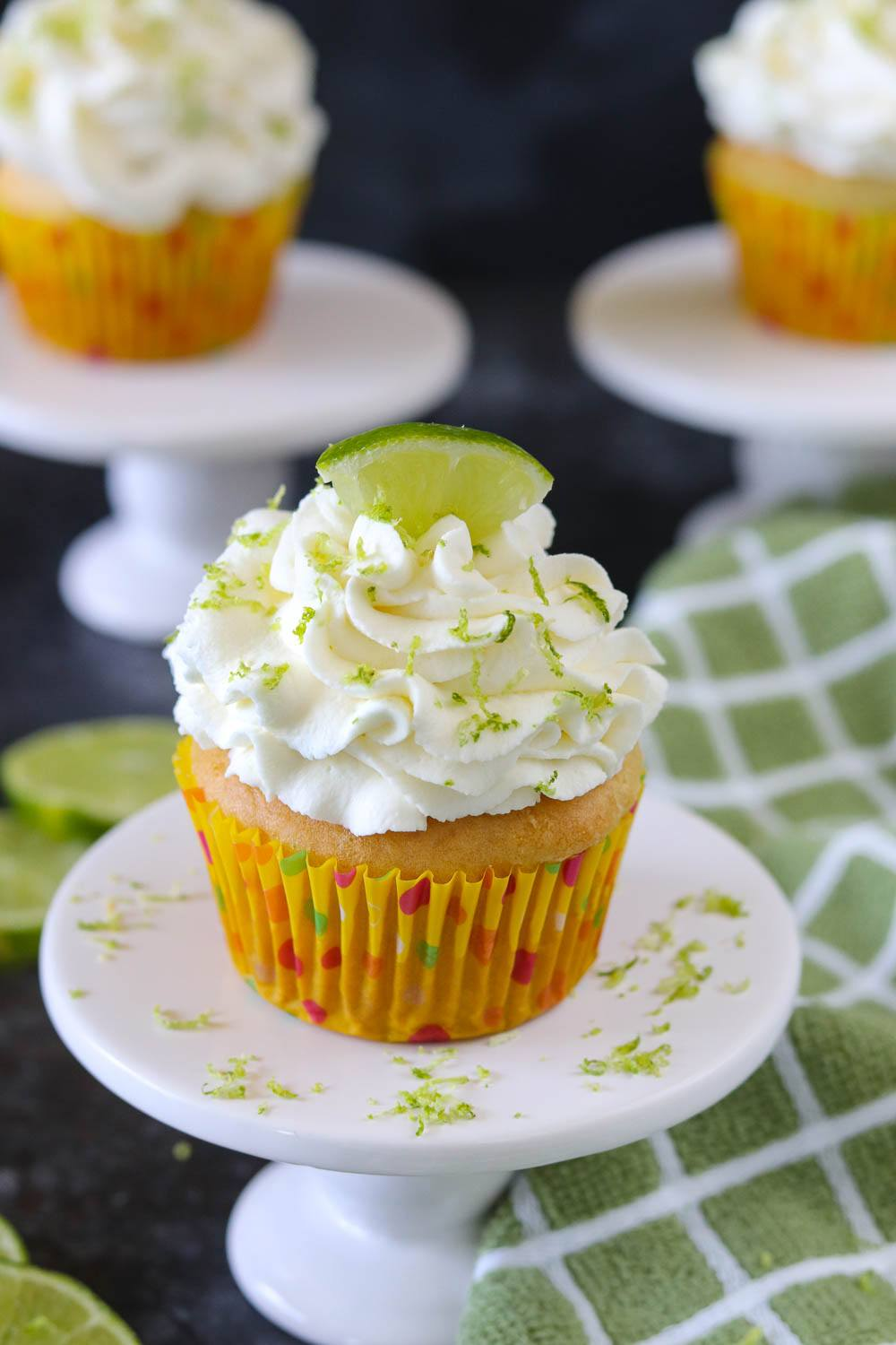 Eggless Key Lime Cupcakes | Ruchiskitchen