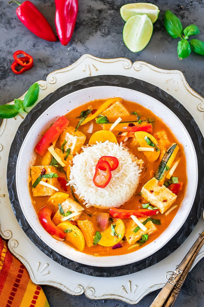 Thai Red Curry with rice