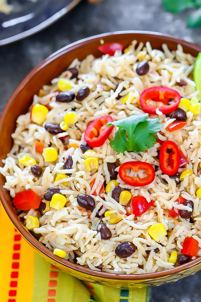 Mexican Fiesta Rice in a bowl