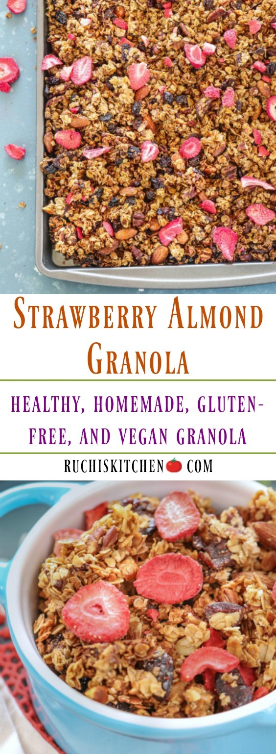 Gluten Free Strawberry Almond Granola