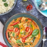 Vegan Thai Red Curry With Tofu And Vegetables