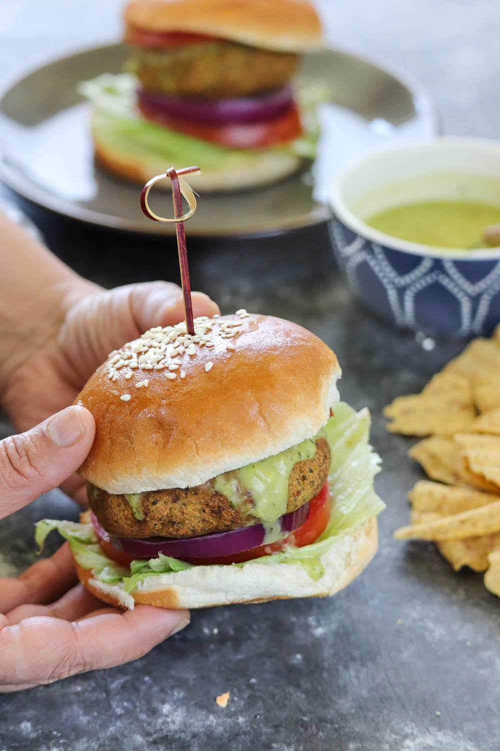 Green Vegetable Burger - Ruchiskitchen.com