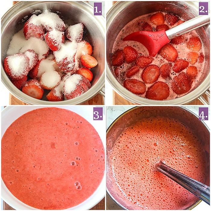 Making of strawberry syrup