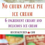 No churn ice cream Apple Pie Ice cream