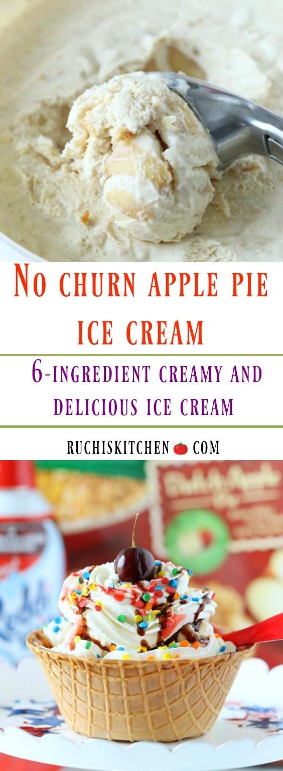 No churn ice cream Apple Pie Ice cream