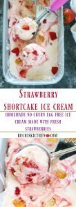 No Churn Strawberry Ice cream - Ruchiskitchen