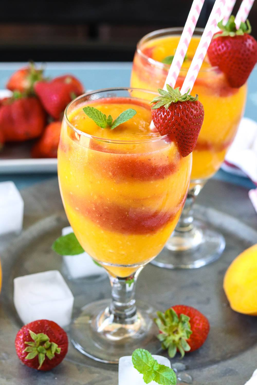 Healthy Strawberry Mango Daiquiri - Ruchiskitchen