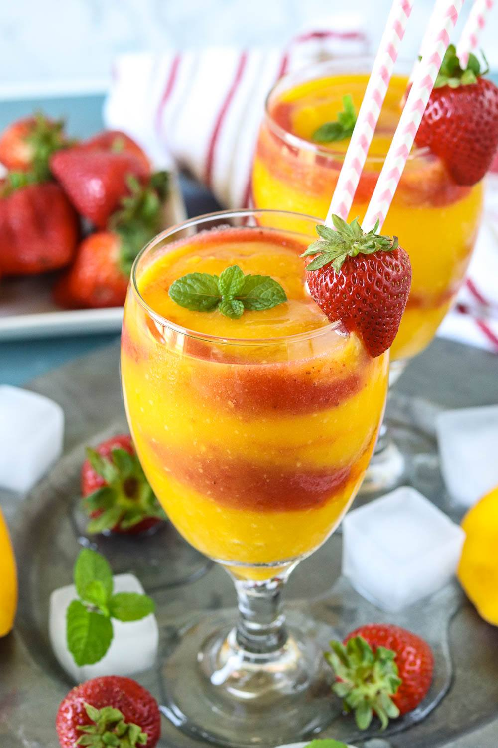 Non Alcoholic Strawberry Mango Daiquiri - Ruchiskitchen