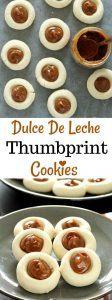 Dulce De Leche Thumbprint Cookies - Ruchiskitchen