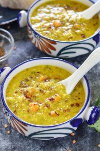 Instant Pot Broccoli Lentil Soup - Ruchiskitchen