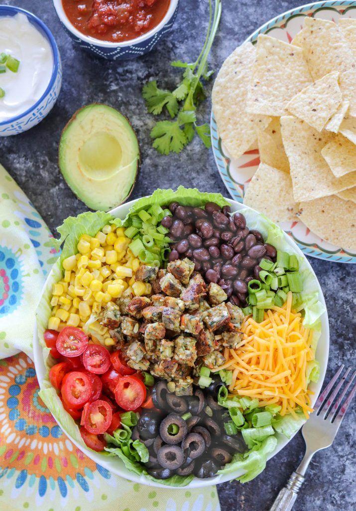 Vegetarian Taco Salad - Ruchiskitchen
