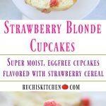 Strawberry Blonde Cupcakes - Ruchiskitchen