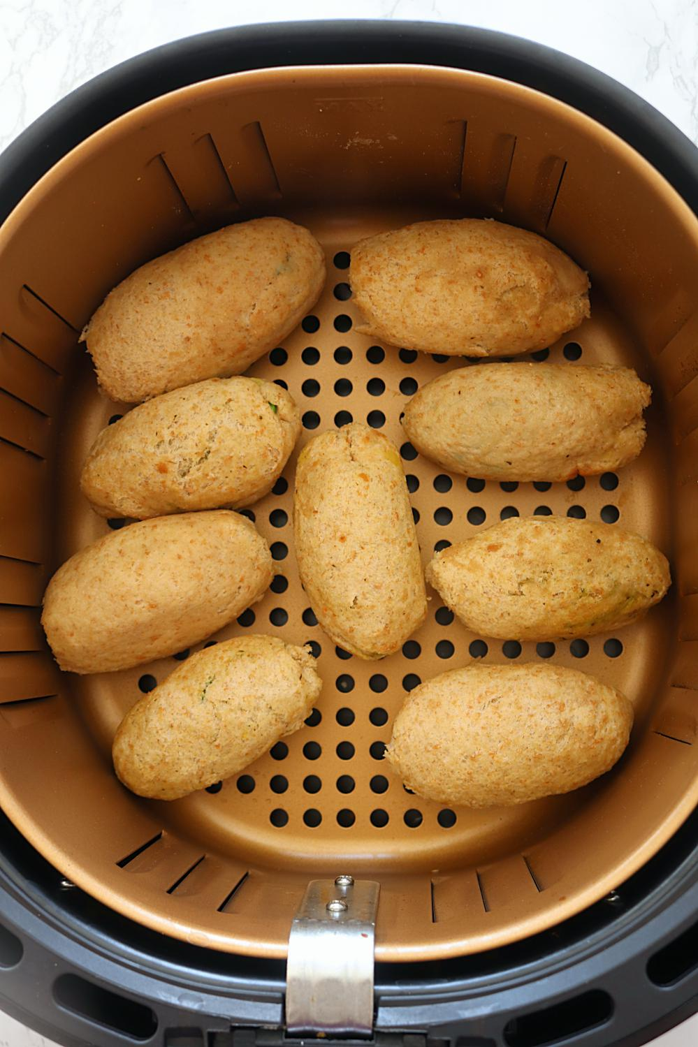 Air fryer baked Bread Rolls