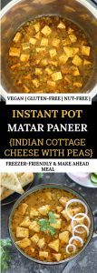 Instant Pot matar paneer Pinnable image