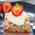 Vegan Strawberry Crumble Bars - Ruchiskitchen