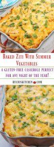 Baked Ziti With Summer Vegetables - Ruchiskitchen