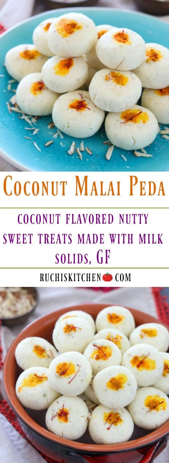 Coconut Malai Peda - Ruchiskitchen