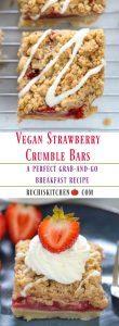 Vegan Strawberry Crumble Bars - Ruchiskitchen