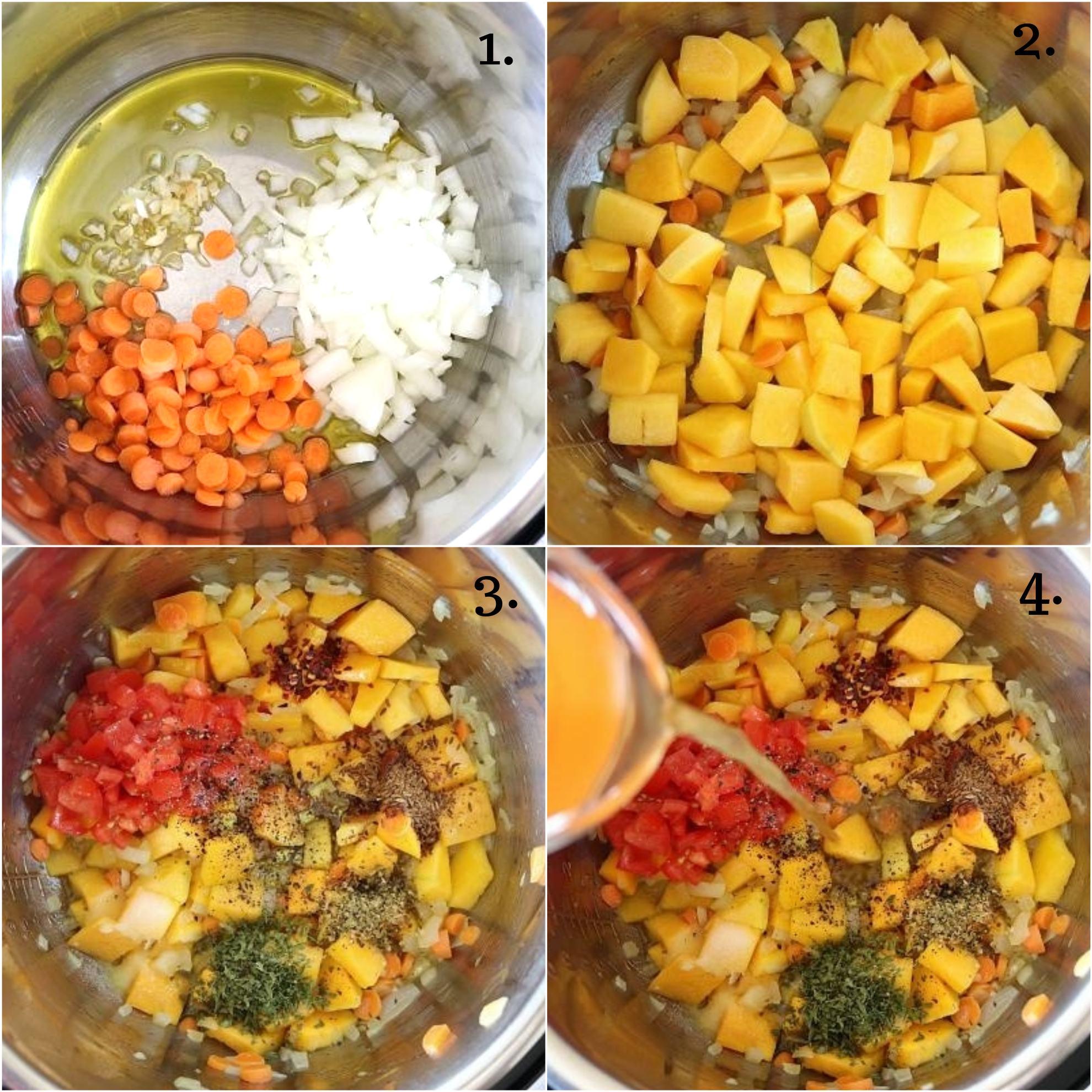 Butternut Squash And Quinoa Stew in the pressure cooker