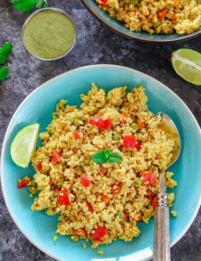 How to make Instant Pot vegetable daliya recipe