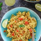 Instant Pot Vegetable Cracked Wheat Pilaf - Ruchiskitchen