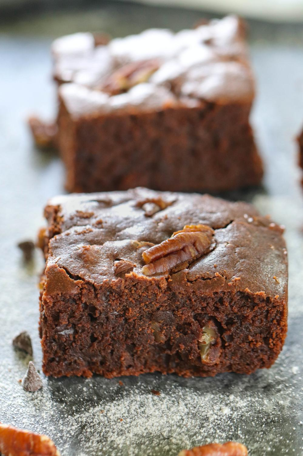 Double Chocolate Pecan Brownies - Ruchiskitchen
