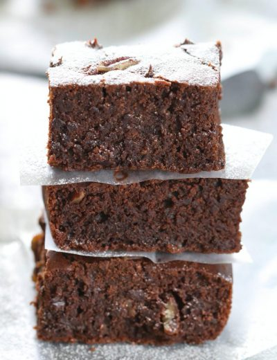 Double Chocolate Pecan Brownies