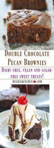 Double Chocolate Pecan Brownies (Vegan and Sugar-free) - Ruchiskitchen