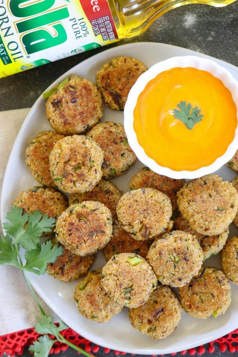 Baked Quinoa Zucchini Bites - Ruchiskitchen