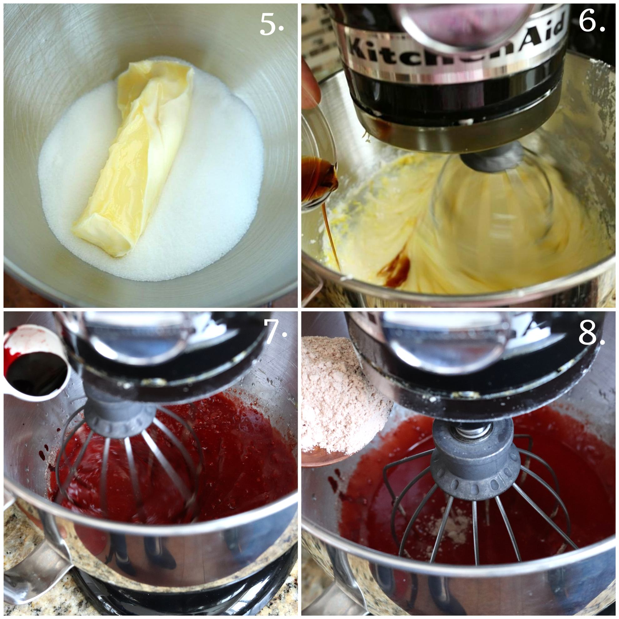 Step by step Eggless Red Velvet Cupcakes