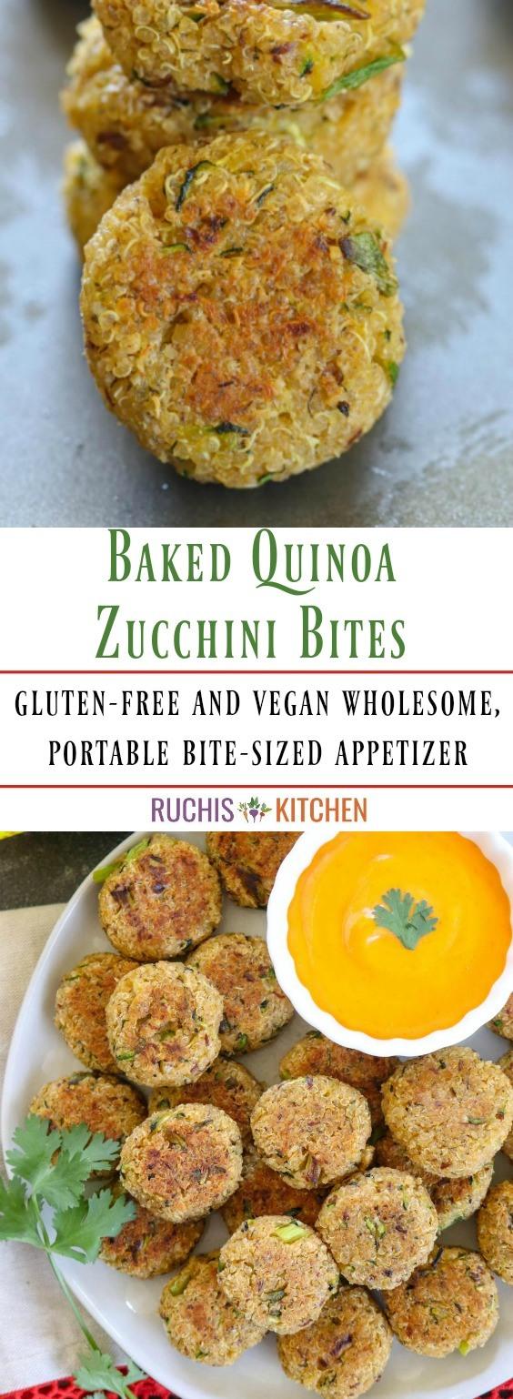 Bakes Quinoa Zucchini Bites- Ruchiskitchen