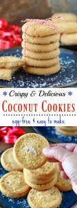 The Best Eggless Coconut cookies - Ruchiskitchen