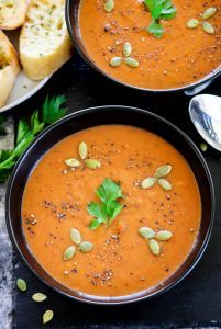 Instant Pot Roasted Red Bell Pepper And Lentil Soup - Ruchiskitchen