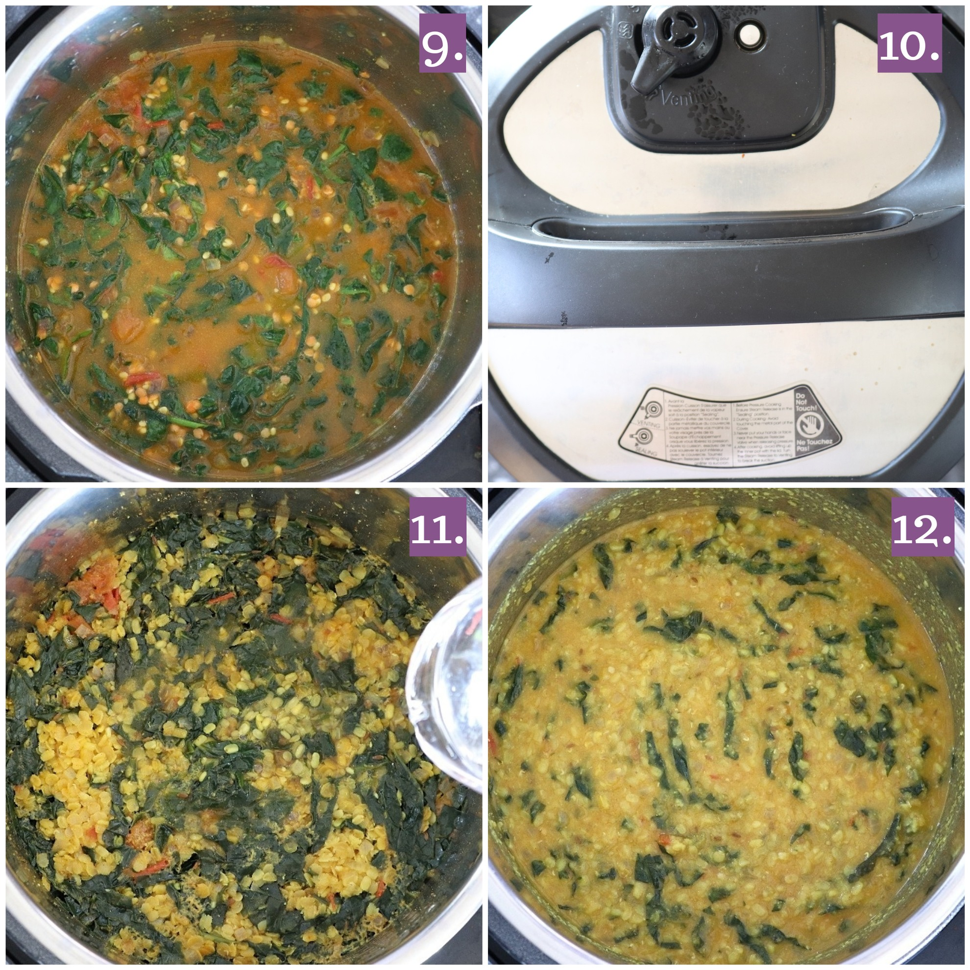 Instant Pot Spinach Dal Instant Pot Dal Palak With Video Ruchiskitchen