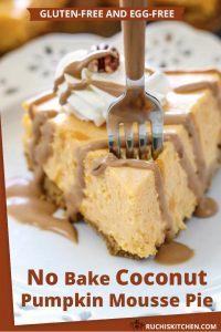Pumpkin Mousse Pie- Pinterest pin