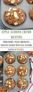 Apple almond Crumb Muffins - Ruchiskitchen