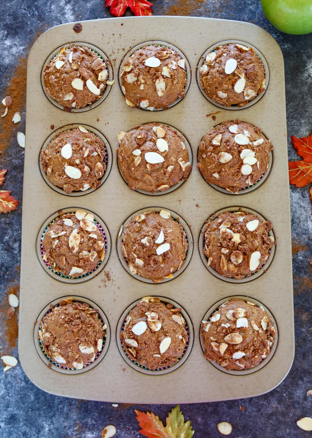 Perfectly  baked Muffins in a tray