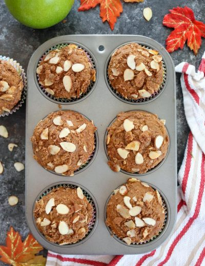 Apple Almond Crumb Muffins - Ruchiskitchen