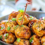 Pan Cooked Honey Orange Chicken Meatballs