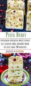Pista burfi Recipe - Ruchiskitchen