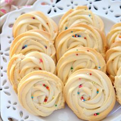 Eggless Swirl Shortbread Cookies