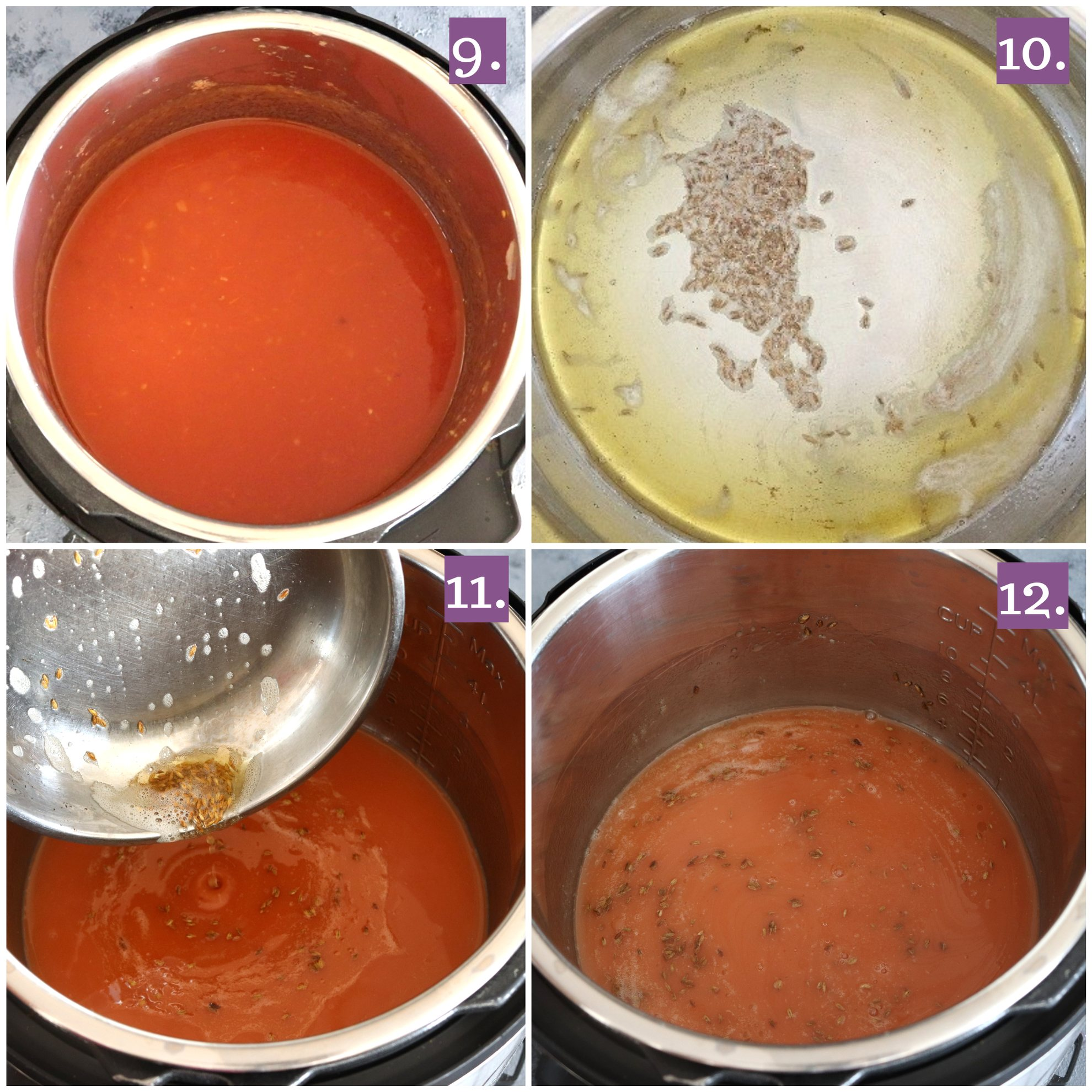 Tempering for Instant pot Tamatar ka shorba