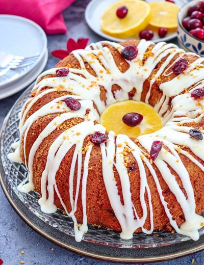 White Chocolate Cranberry Bundt Cake - Ruchiskitchen