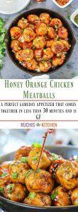 Pan Cooked Honey Orange Chicken Meatballs - Ruchiskitchen