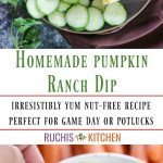 Homemade pumpkin ranch dip - Ruchiskitchen